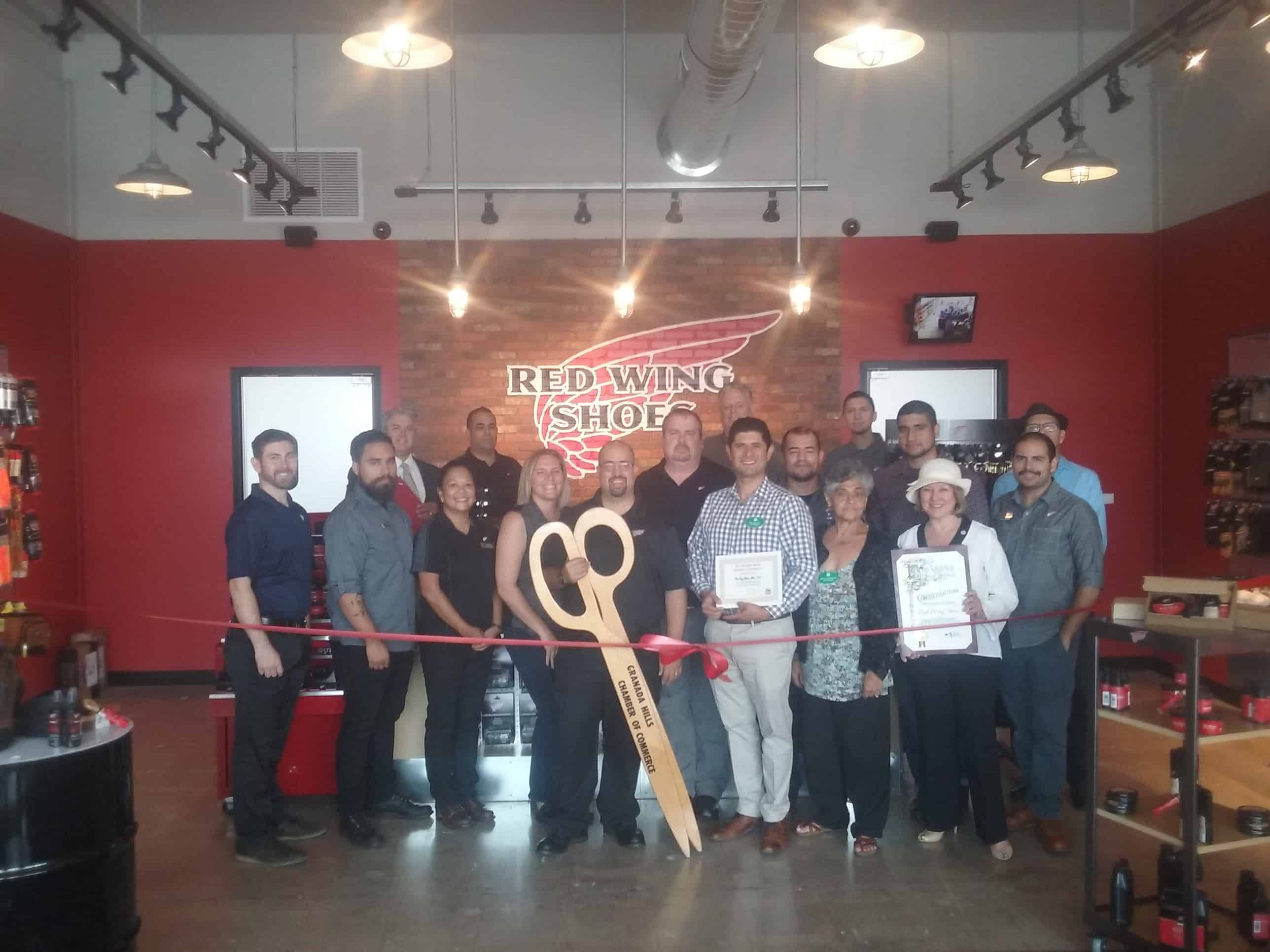 Red Wing Shoe Ribbon Cutting